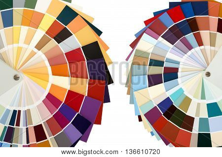 Two color palette guide for color matching on a white background. isolated