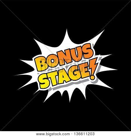 Bonus Stage Comic Speech Bubble Cartoon Game Assets
