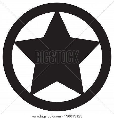 Star in circle icon single object incentive painted image