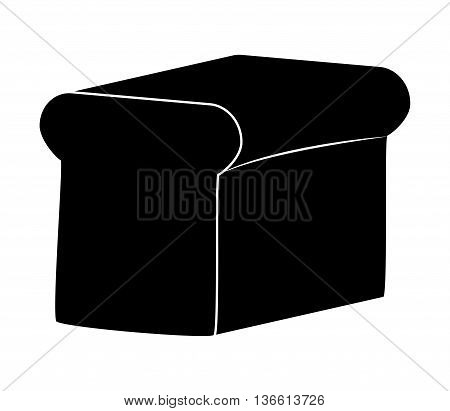 Toast Bread Vector Symbol Icon Design. Illustration Isolated On White Background