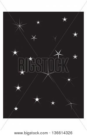 Set of Vector Sparkles Star natural phenomenon symbol