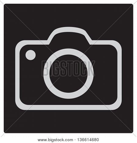 Black Square Button with Camera Icon technology