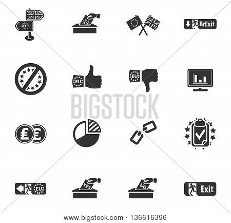 vector symbol of brexit, icon set for web