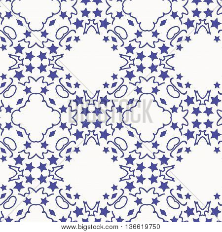 vector pattern ornamets blue stars decjration reapit tile