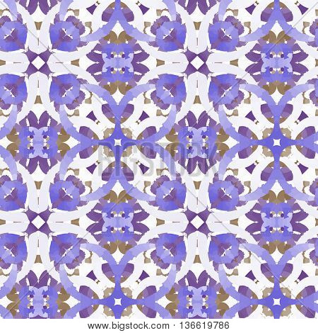 vector pattern ornamets viola decjration reapit tile like watercolors