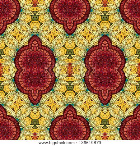 Vector Seamless Ornate Pattern