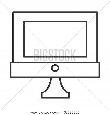 simple flat design computer icon vetor illustration