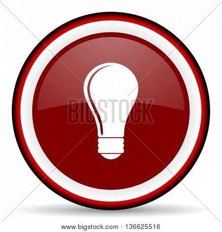 bulb round glossy icon, modern design web element