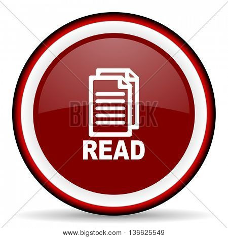 read round glossy icon, modern design web element