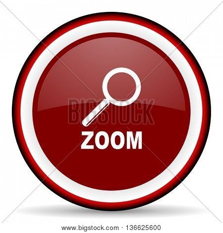 zoom round glossy icon, modern design web element