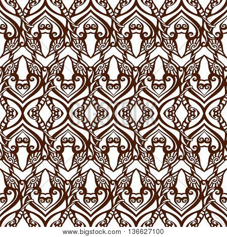 Seamless doodle pattern scetch line decoration background