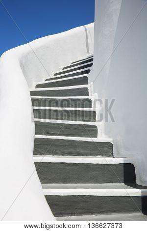 View of beautiful details of Santorini island Greece
