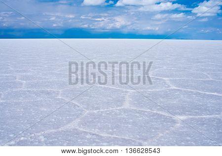 Landscape in Salar de Uyuni in Bolivia