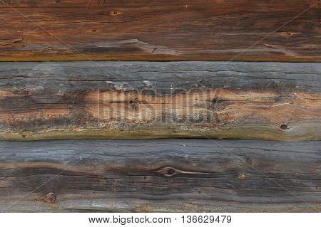 Old Antique Unpainted Wooden Logs Wall Texture