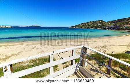 white fence in Cala Battistoni in Costa Smeralda Italy