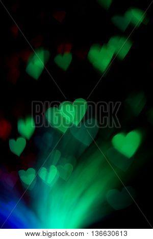 Colorful Heartshaped Bokeh