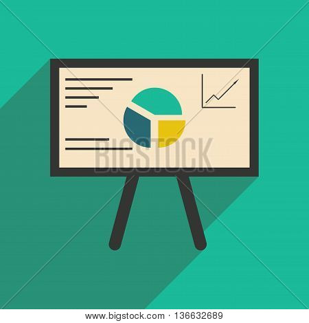 Modern flat icon with shadow chart diagram presentation