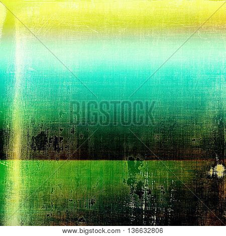 Vintage elegant background, creased grunge backdrop with aged texture and different color patterns: yellow (beige); brown; black; blue; green; cyan