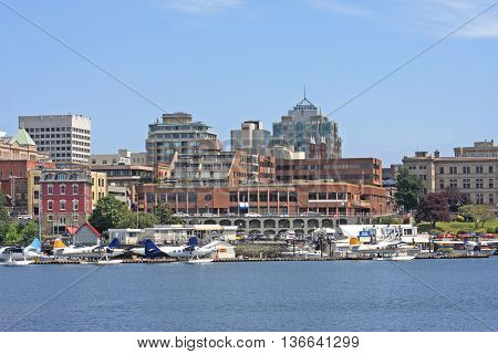 Victoria harbour on Vancouver Island in Canada