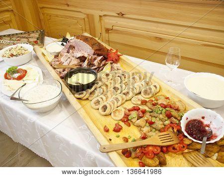 Regional dishes from regions of Zakopane in Poland