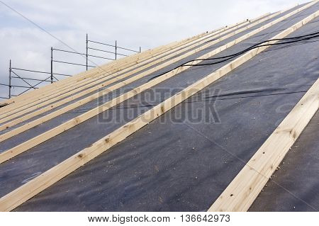 Construction Works Of Construction And Insulation Of A Roof