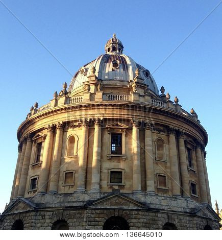 The Radcliffe Camera in the evening sunlight, Oxford, England