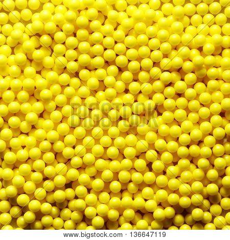 A lot of yellow ascorbic acid drops