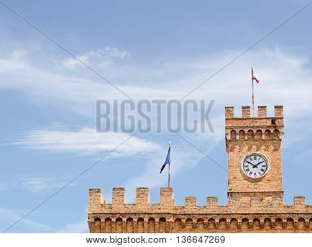 Spinucci Castle in Chieti (Italy) in a sunny day