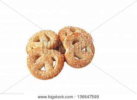 Butter cookies isolated on the white backgraund