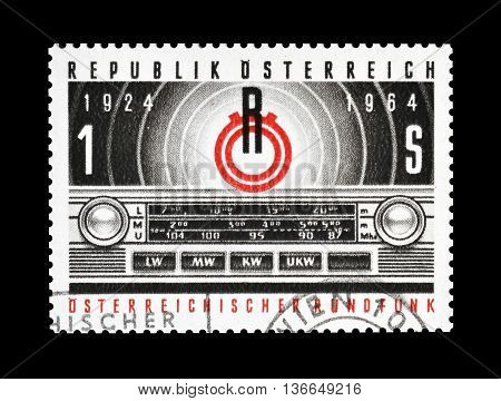 AUSTRIA - CIRCA 1964 : Cancelled postage stamp printed by Austria, that shows  Radio.