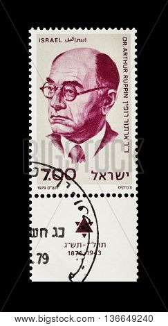 ISRAEL - CIRCA 1979 : Cancelled postage stamp printed by Israel, that shows Dr Arthur Ruppin.