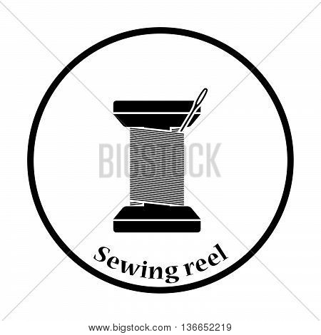 Sewing Reel With Thread Icon