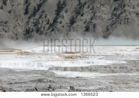 Hot Springs At Yellowstone