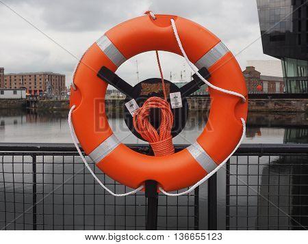 Life Buoy In Liverpool Docks