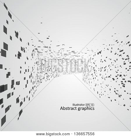 Abstract lattice space, Feeling of depth dots.