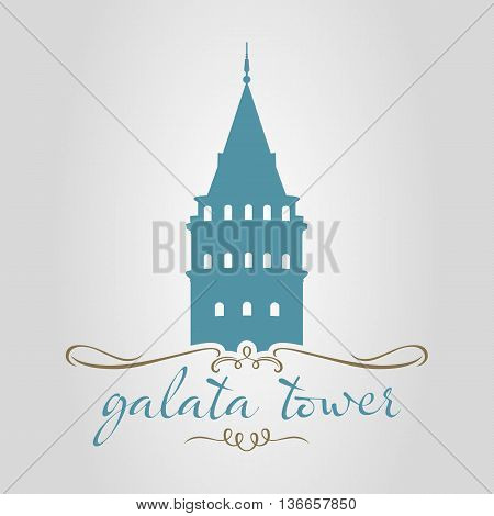 traditional istanbul galata tower vector illustration design turkey