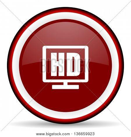 hd display round glossy icon, modern design web element