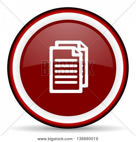 document round glossy icon, modern design web element