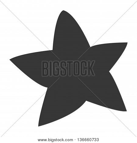 simple flat design cute chubby star icon vector illustration
