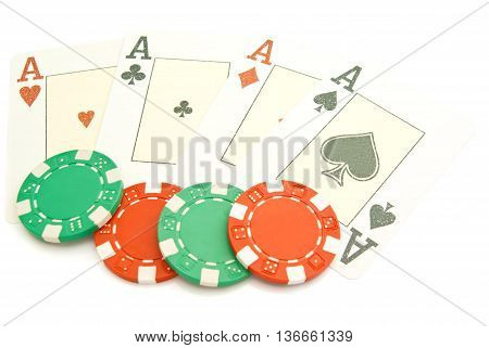 Four Aces And Plastic Chips
