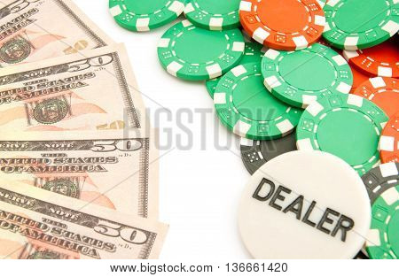 Dollars And Colored Chips