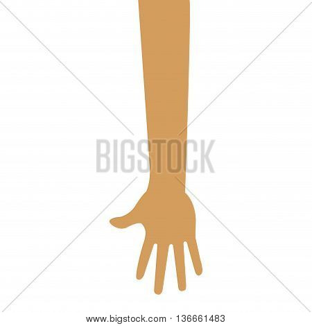 simple flat design arm and hand icon vector illustration