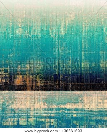 Vintage decorative texture with grunge design elements and different color patterns: yellow (beige); black; blue; green; cyan; pink