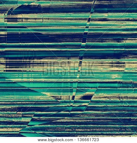 Vintage elegant background, creased grunge backdrop with aged texture and different color patterns: yellow (beige); gray; blue; cyan