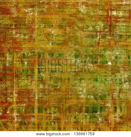 Retro texture, shabby and ragged background in grunge style. With different color patterns: yellow (beige); brown; gray; green; red (orange)