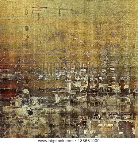 Abstract grunge weathered background of vintage texture. With different color patterns: yellow (beige); brown; gray