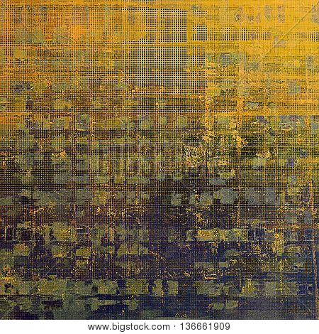 Traditional grunge background, scratched texture with vintage style design and different color patterns: yellow (beige); brown; gray; green; red (orange); purple (violet)