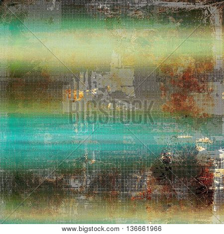 Art grunge texture for creative design or scrap-book. With vintage style decor and different color patterns: yellow (beige); brown; gray; blue; green; cyan