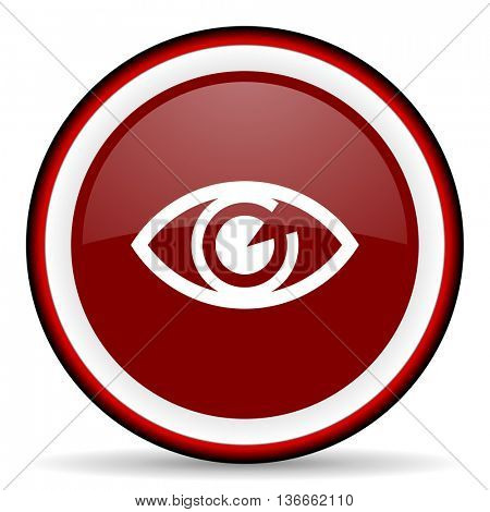 eye round glossy icon, modern design web element