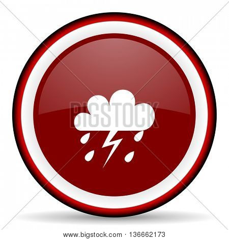 storm round glossy icon, modern design web element